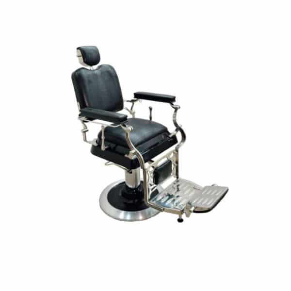 Silla barbero ref k3168 f brica royal muebles de for Sillas para barberia