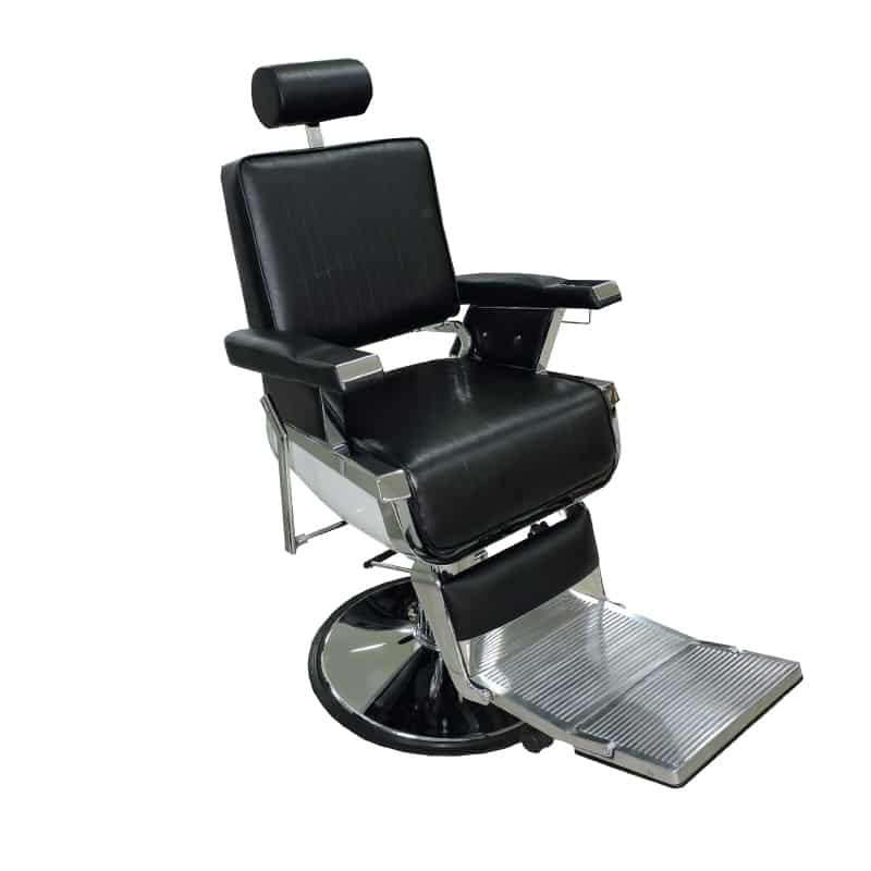 Silla barbero ref 38000 f brica royal muebles de for Sillas para barberia