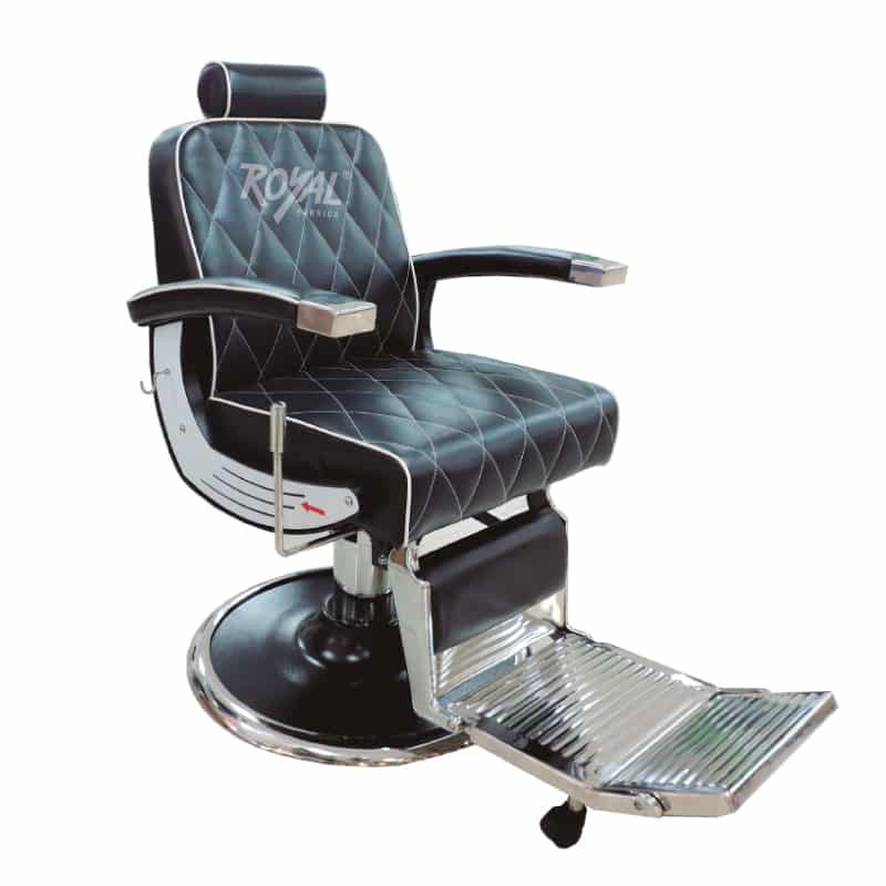 Silla barbero ref 3171 f brica royal for Sillas para barberia