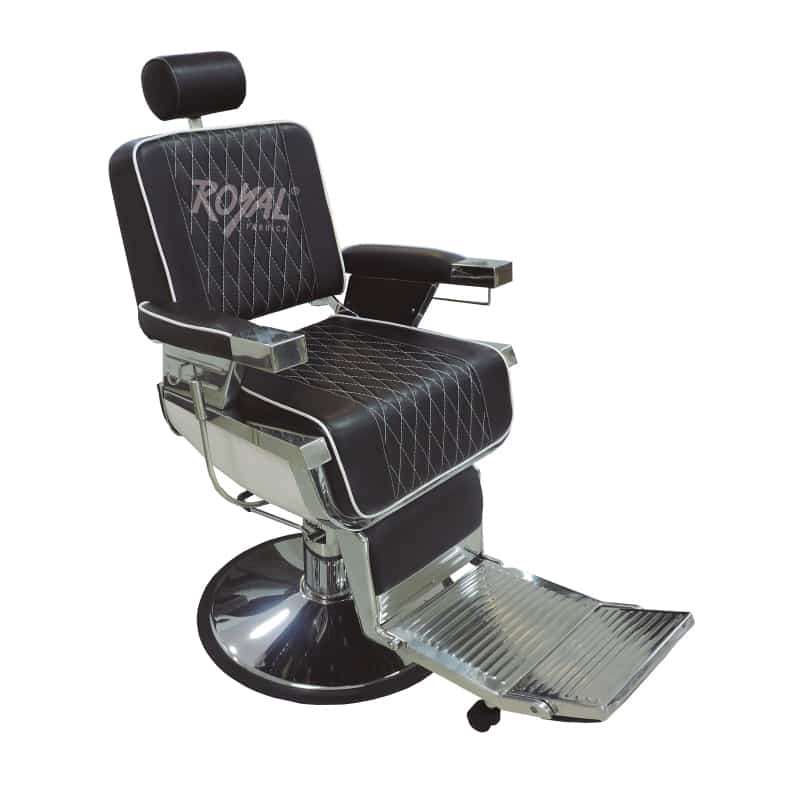 Silla barbero ref 38000c f brica royal for Sillas para barberia