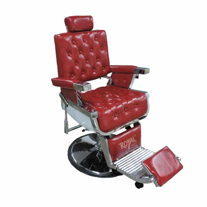 Silla barbero ref 38000r capitoneada f brica royal for Sillas para barberia